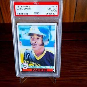 Ozzie Smith 1979 Topps Rookie card, PSA 8 * READ